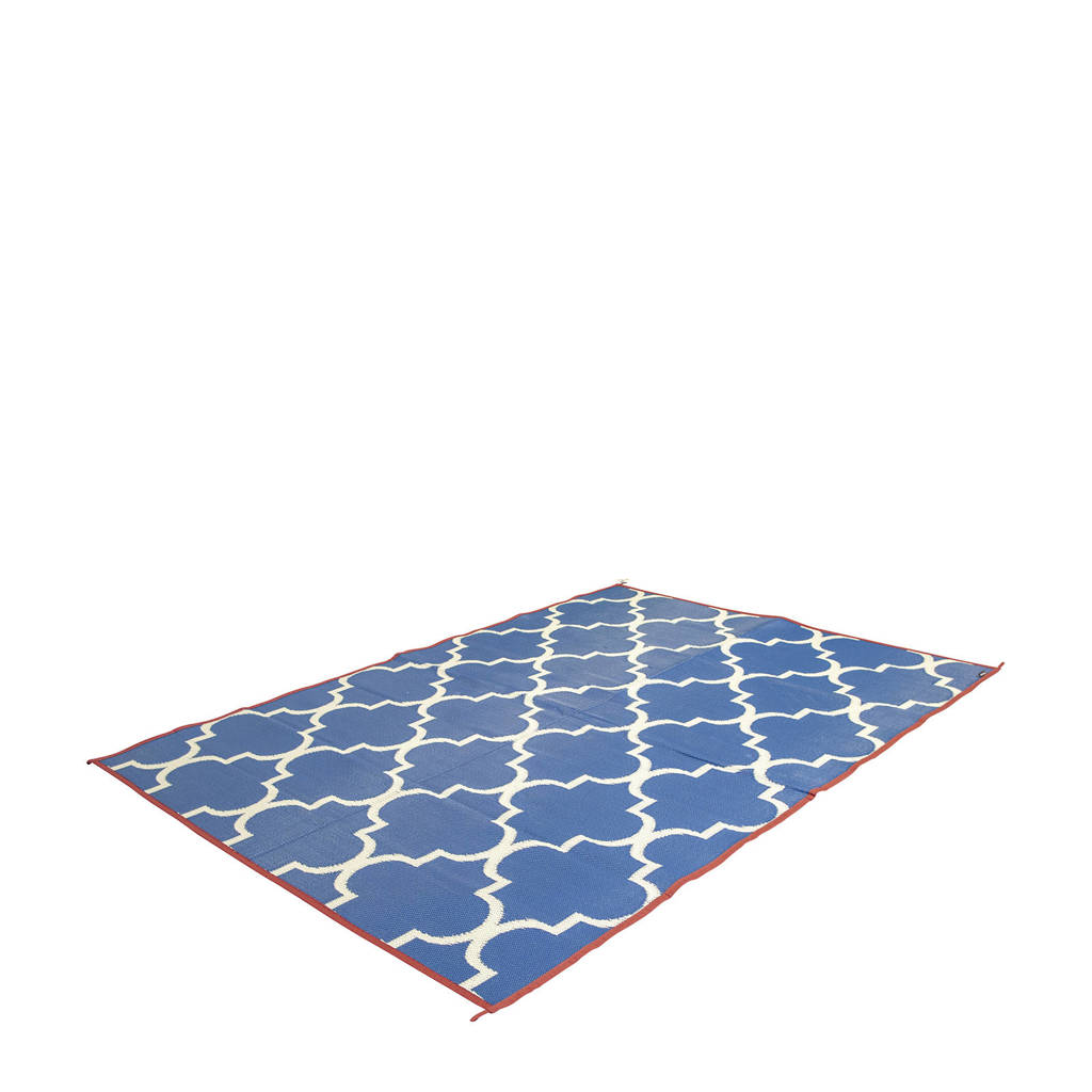 Bo-Camp chill mat Casablanca M (200x180 cm), Blauw/wit