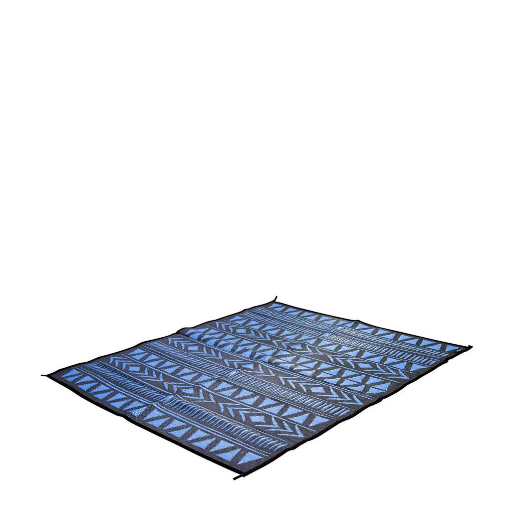 Bo-Camp chill mat Oxomo M (200x180 cm), Blauw/grijs