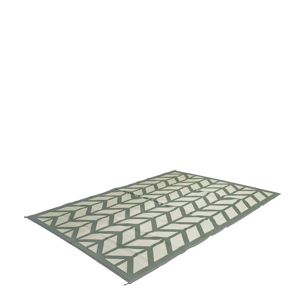 Bo-Camp chill mat Flaxton L (270x200 cm), Groen/grijs