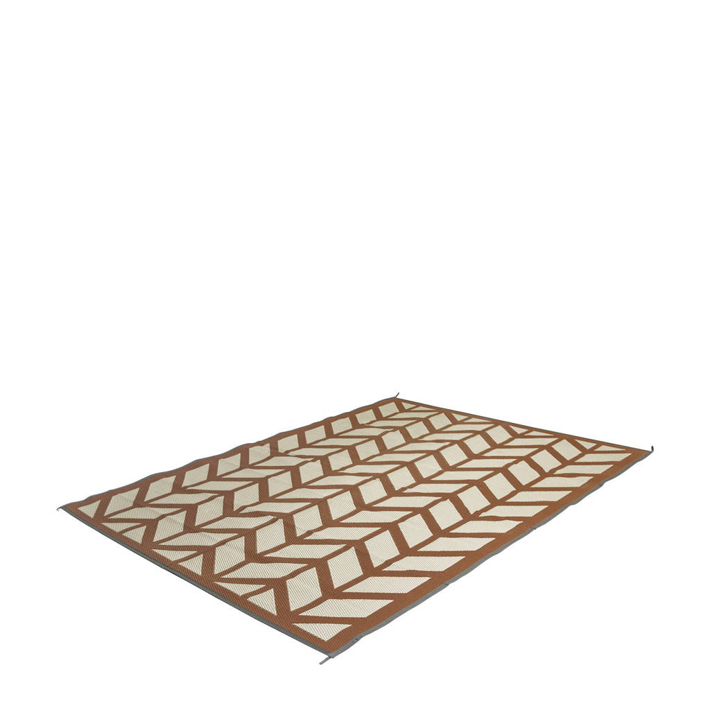 Bo-Camp chill mat Flaxton M (200x180 cm), Champagne/Rood