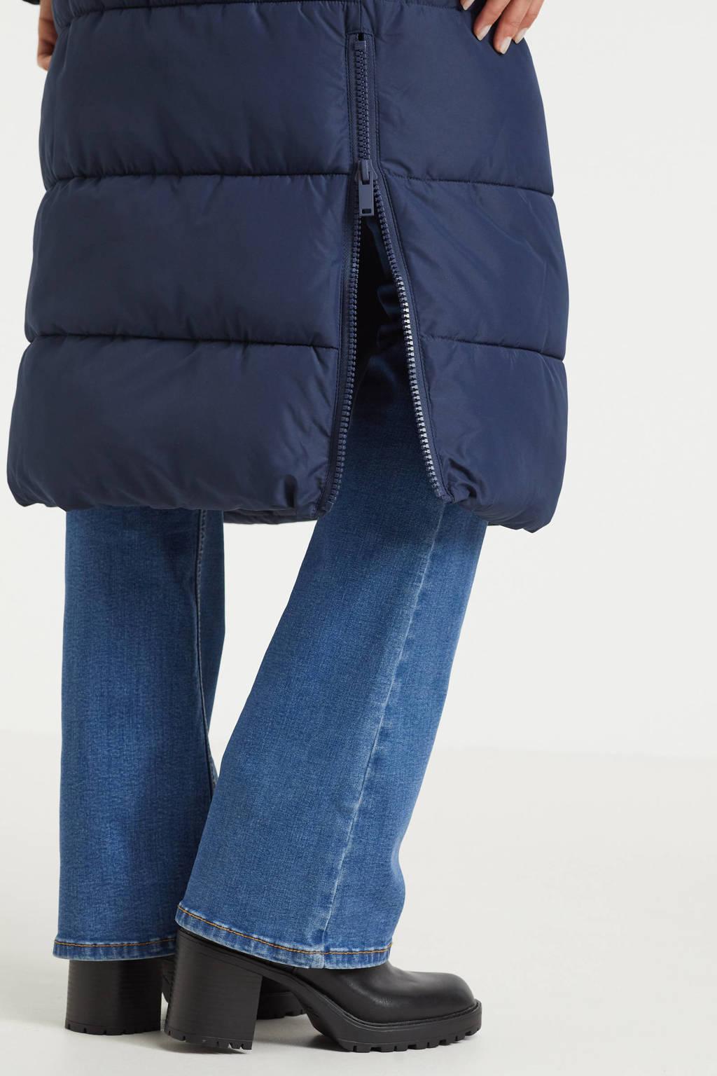 anytime gewatteerde jas donkerblauw, Donkerblauw