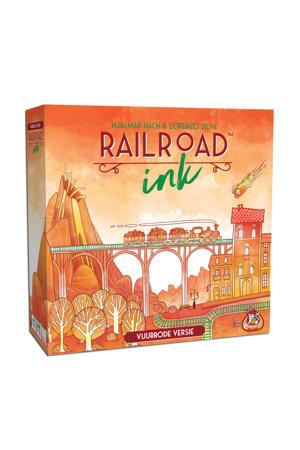 Railroad Ink: rode versie dobbelspel