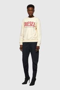 Diesel sweater F-ANGS-ECOLOGO SWEAT met logo ecru, Ecru