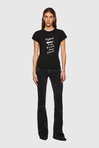 Diesel T-shirt T-SLICUP-B1 T-SHIRT met printopdruk zwart, Zwart