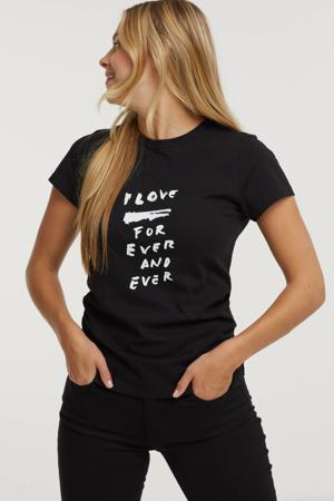 T-shirt T-SLICUP-B1 T-SHIRT met printopdruk zwart
