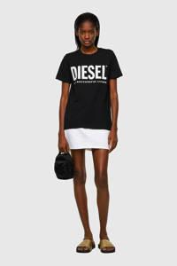 Diesel T-shirt T-SILY-ECOLOGO T-SHI met logo zwart, Zwart