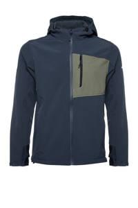 Scapino Mountain Peak outdoor jas donkerblauw/groen, Blauw