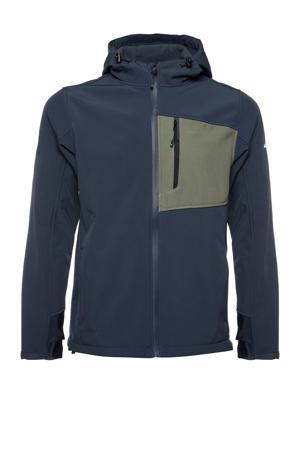 outdoor jas donkerblauw/groen