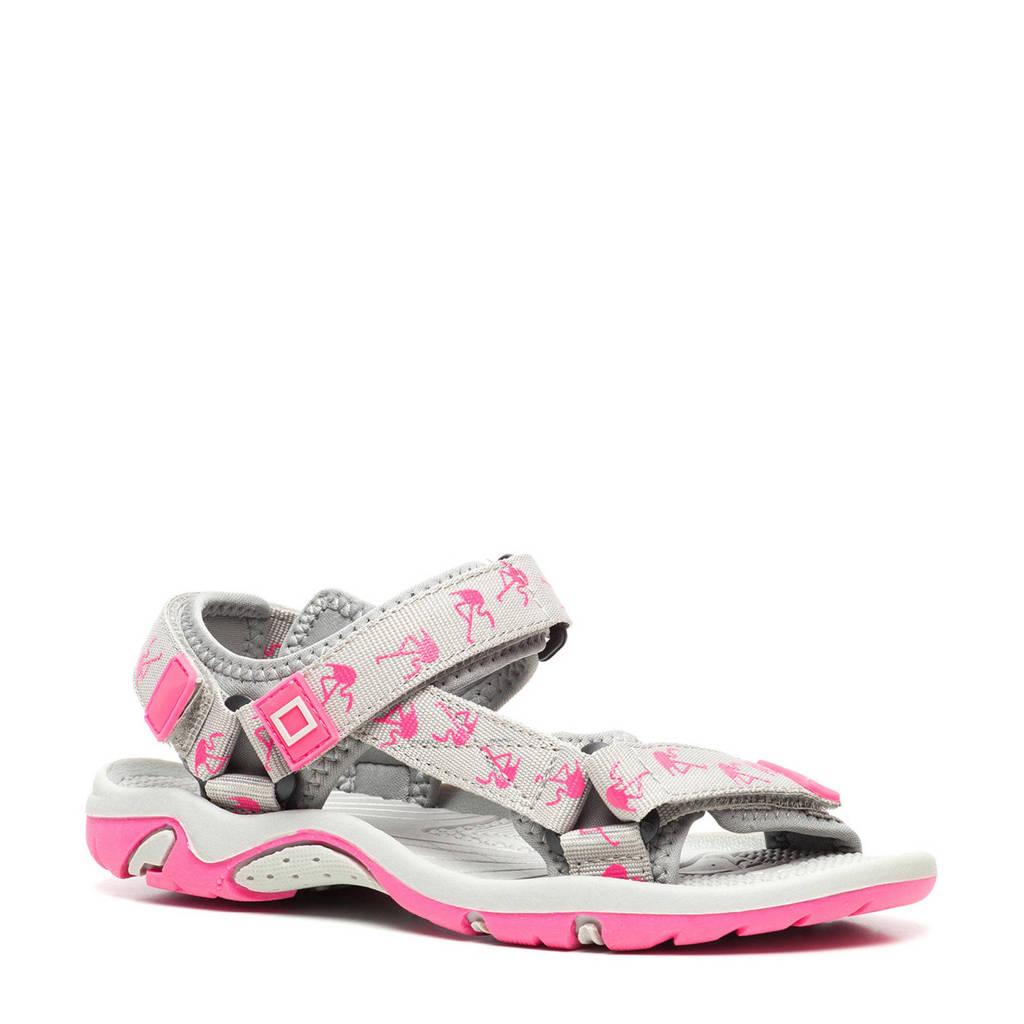 Scapino Blue Box   sandalen met dierenprint grijs/roze, Grijs/roze