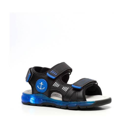Scapino Blue Box sandalen met lichtjes zwart/blauw