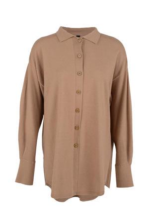 gebreide blouse Knit bruin