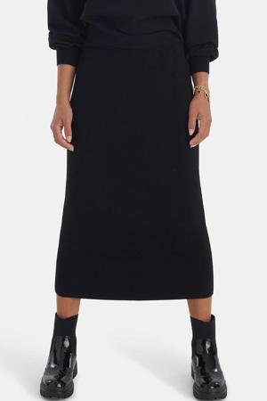 fijngebreide rok Knit zwart