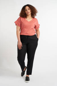 MS Mode loose fit broek zwart, Zwart