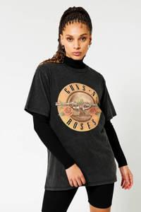 America Today T-shirt met printopdruk washed black