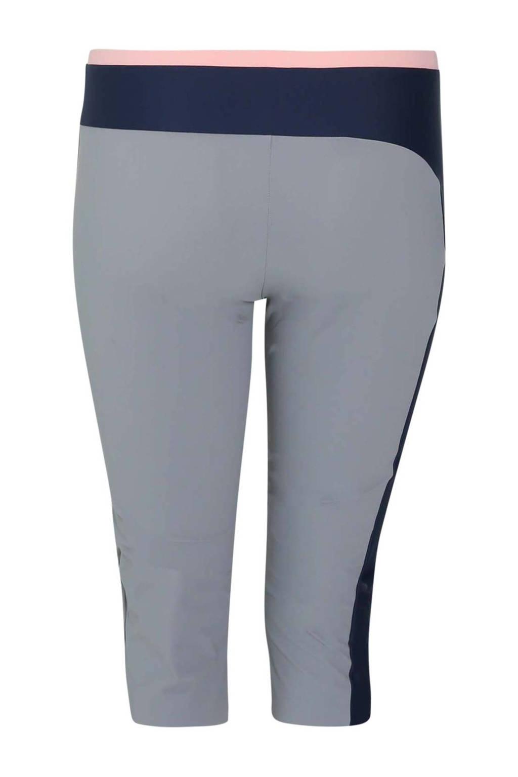 Paprika LUZ x Paprika Plus Size sportcapri Paloma grijs/marineblauw/roze