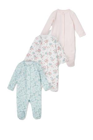 slaapzak - set van 3 roze/groen