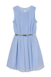 C&A Here & There jurk met plooien lichtblauw, Lichtblauw