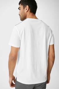 C&A T-shirt met printopdruk wit, Wit