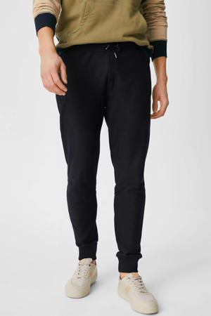 tapered fit joggingbroek donkerblauw