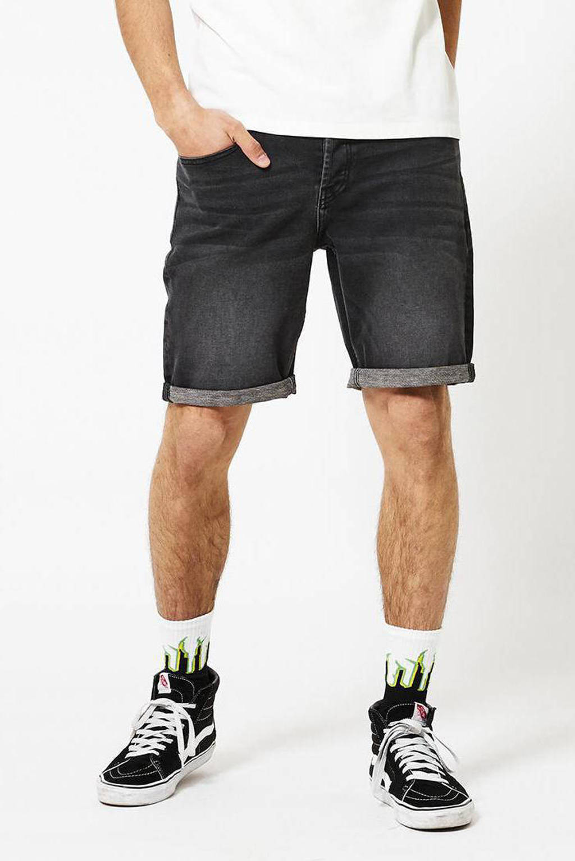 America Today regular fit jeans short Robert zwart, Zwart