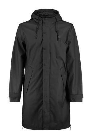 regenjas van gerecycled polyester zwart