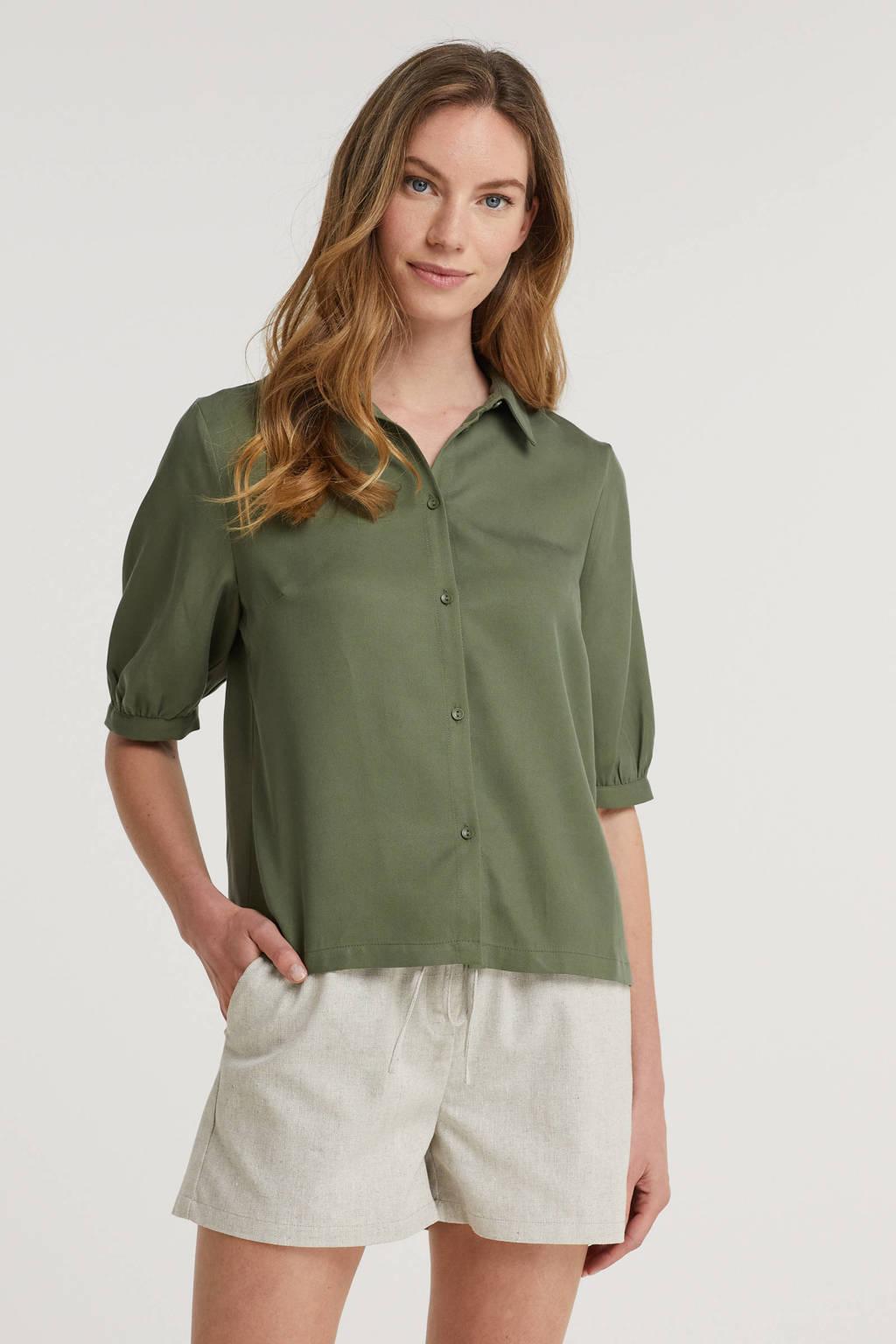 Another-Label blouse Lierre donkergroen, Donkergroen