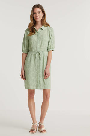 maxi blousejurk Sango met ceintuur groen