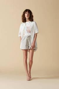 Another-Label T-shirt Blossom met printopdruk gebroken wit, Gebroken wit