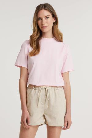 T-shirt Gaure van biologisch katoen lichtroze