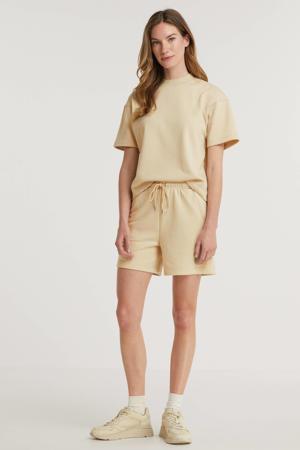 high waist regular fit short Fougère beige