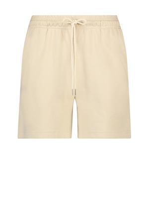 high waist regular fit broek Fougère beige