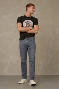 Kings of Indigo T-shirt Darius van biologisch katoen donkergroen, Donkergroen
