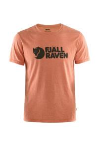 Fjällräven outdoor T-shirt rood melange, Rood melange