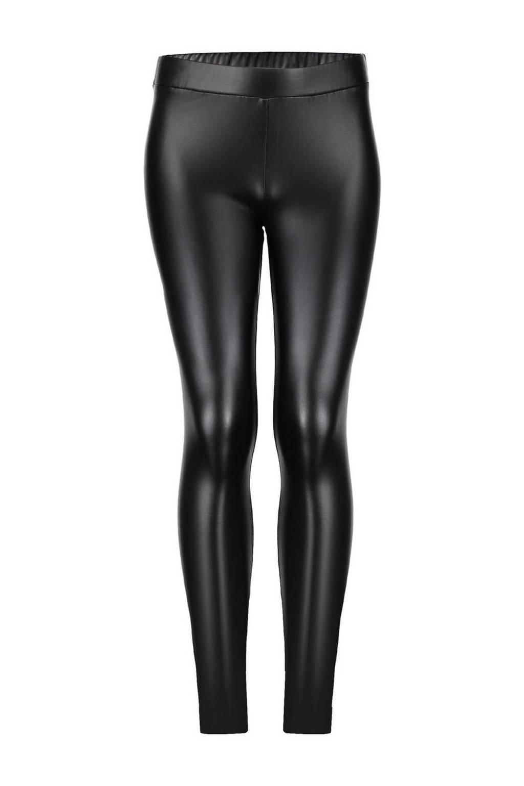 Geisha imitatieleren legging zwart, Zwart