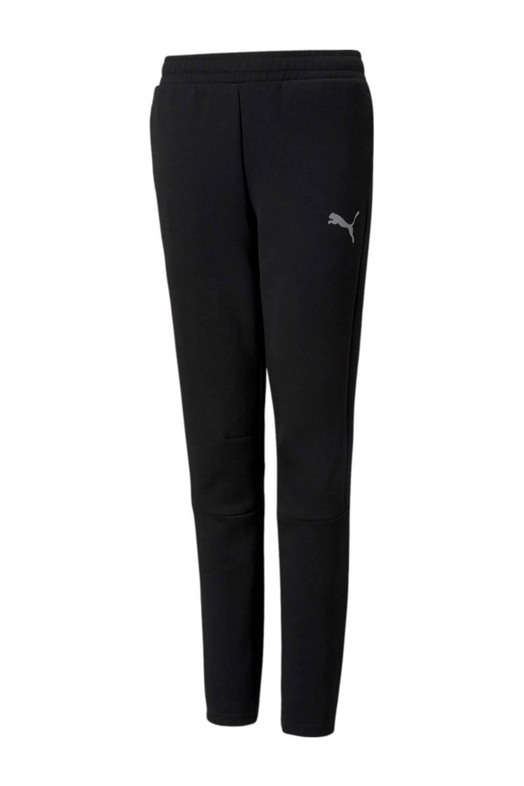 Puma regular fit joggingbroek met logo zwart, Zwart