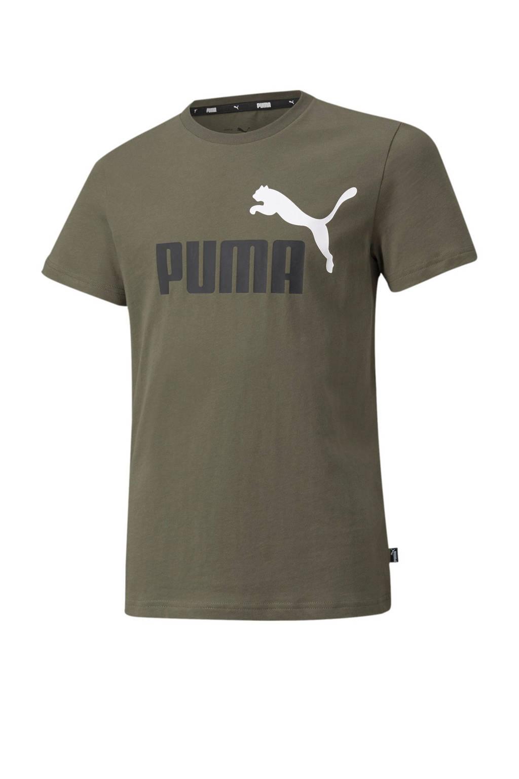 Puma T-shirt donkergroen, Donkergroen