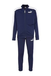 Puma   trainingspak donkerblauw/wit, Donkerblauw/wit