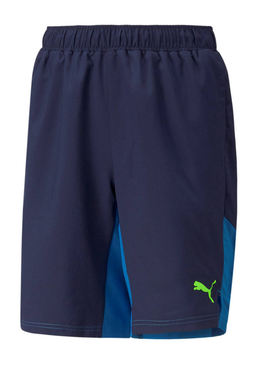 Puma regular fit short van gerecycled polyester donkerblauw/blauw, Donkerblauw/blauw