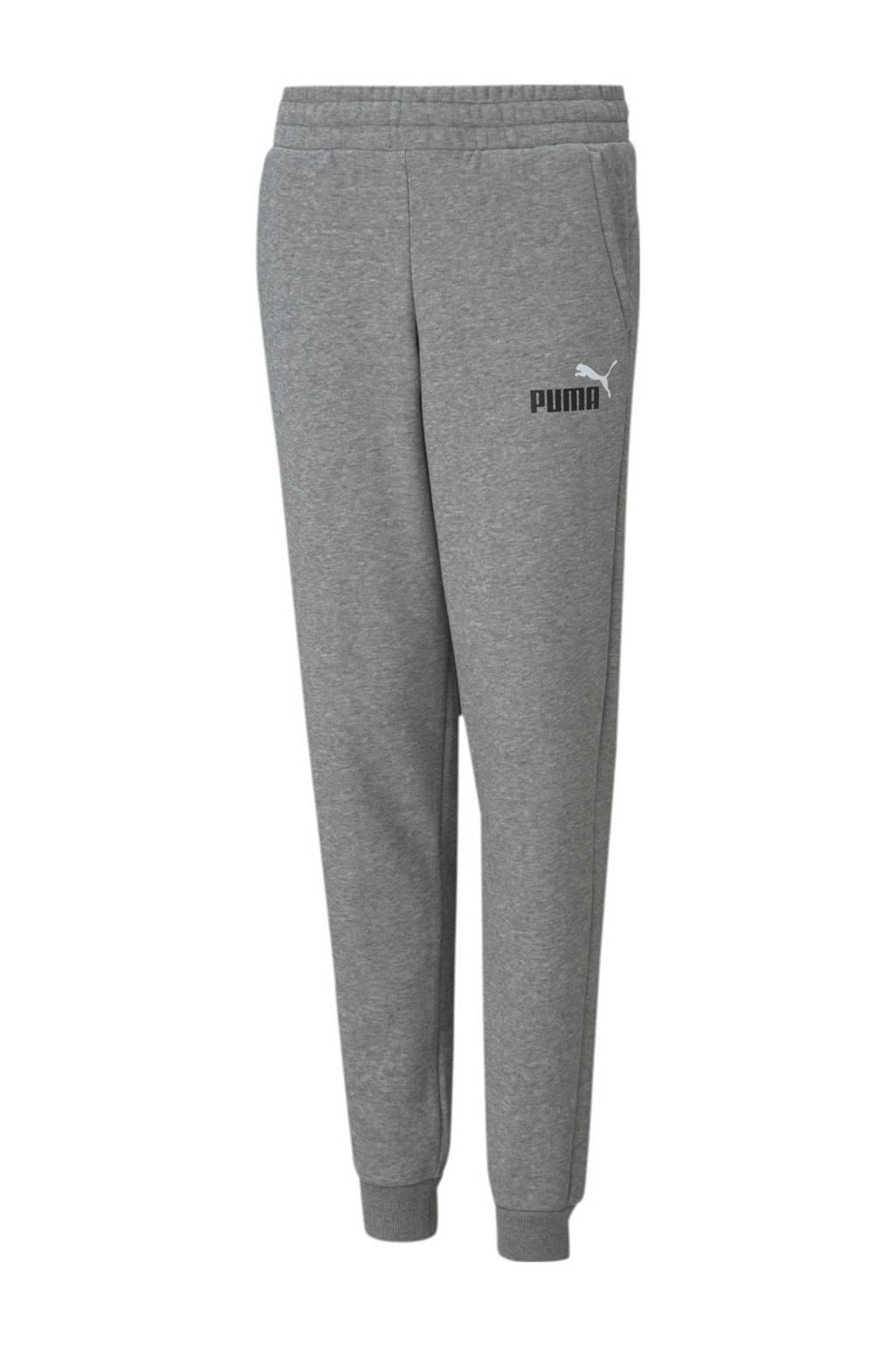 Puma joggingbroek grijs melange, Grijs melange