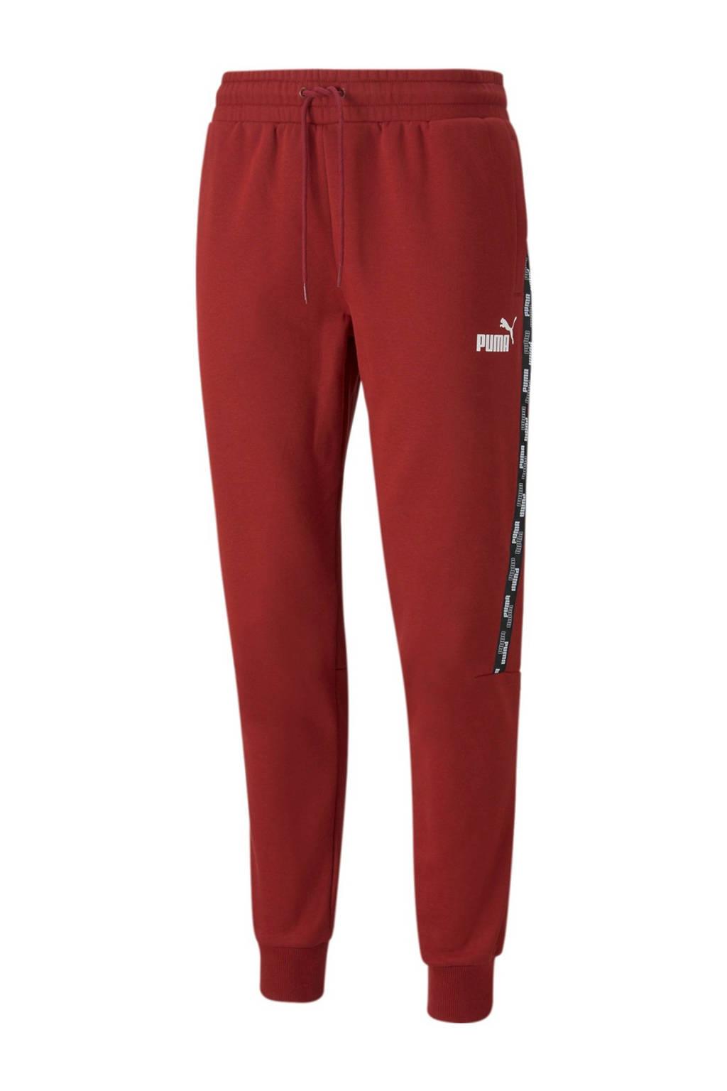 Puma regular fit broek rood, Rood