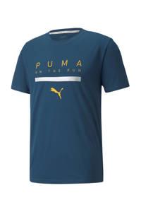 Puma   hardloopshirt blauw, Blauw