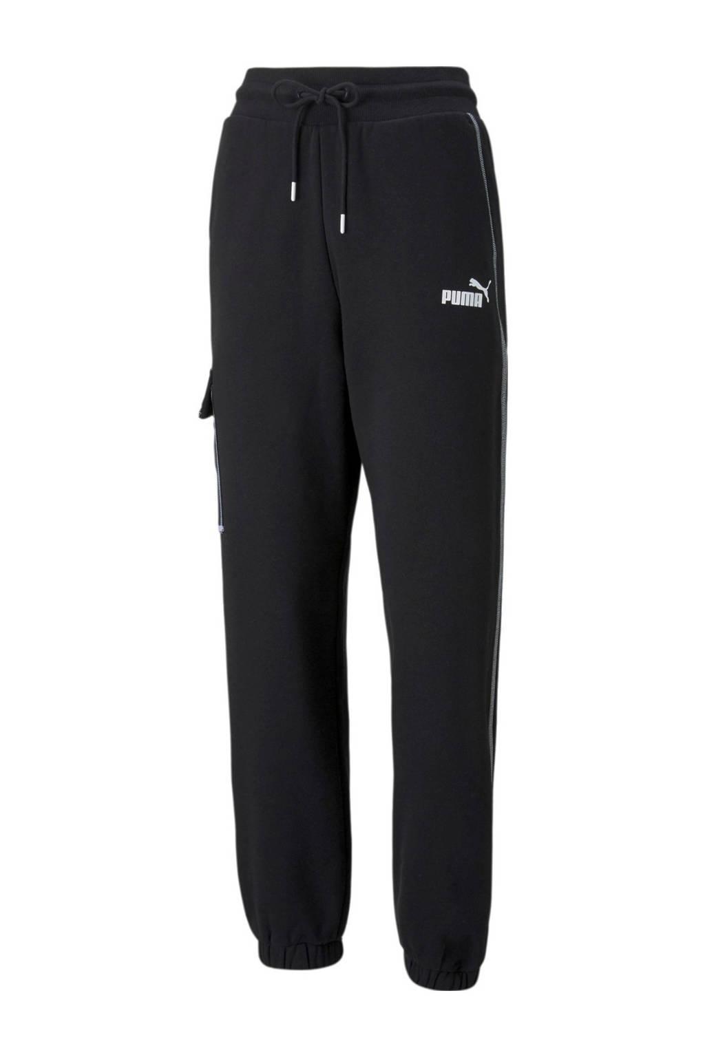 Puma regular fit broek zwart/wit, Zwart/wit