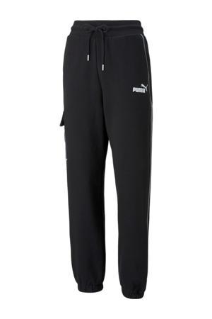 regular fit broek zwart/wit