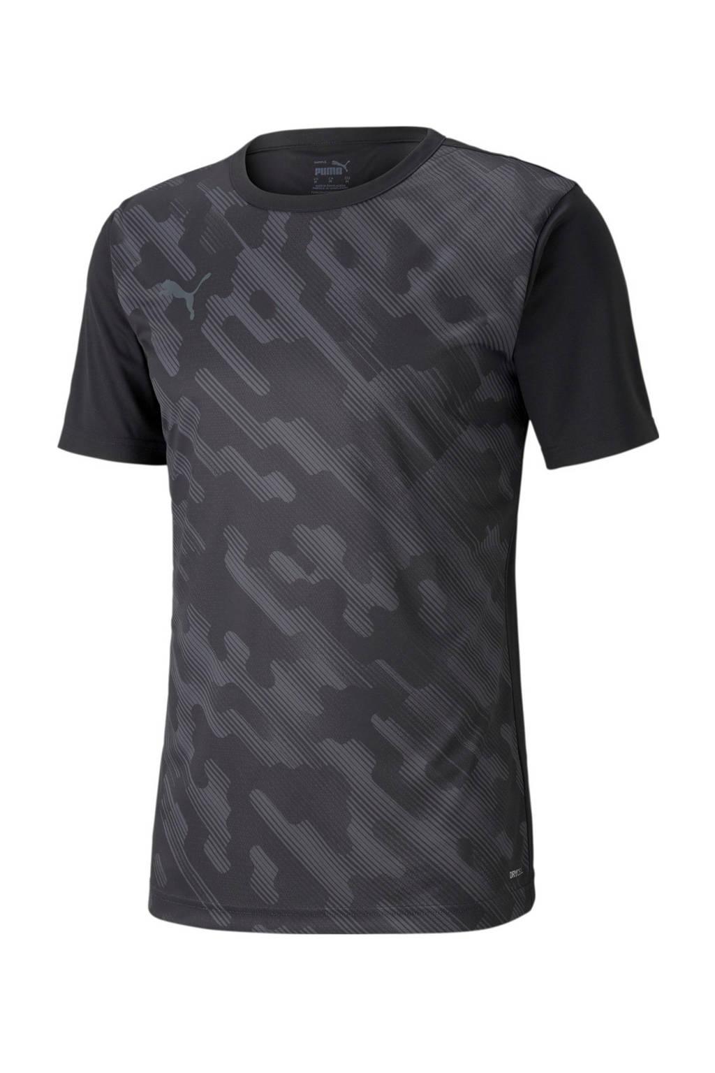 Puma Senior  sport T-shirt zwart/donkergrijs, Zwart/donkergrijs