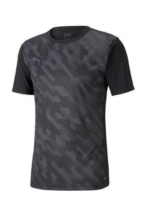 Senior  sport T-shirt zwart/donkergrijs