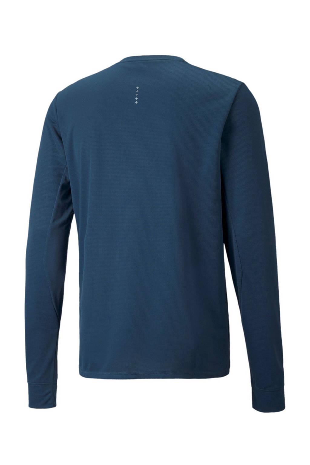 Puma   hardloopshirt donkerblauw, Donkerblauw