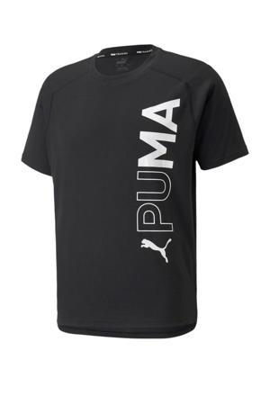 sport T-shirt zwart/wit