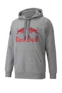 Puma Red Bull Racing Double Bull hoodie grijs melange/rood, Grijs melange/rood