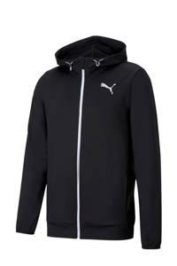 Puma sweatvest met logo zwart, Zwart