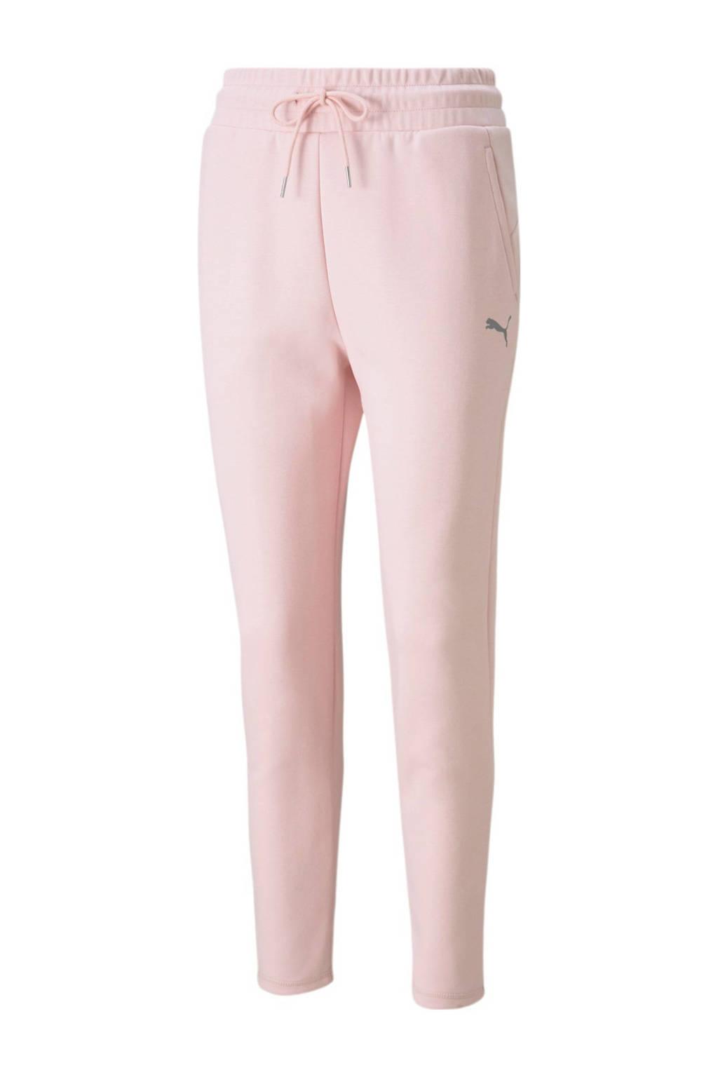 Puma regular fit broek met logo lichtroze, Lichtroze